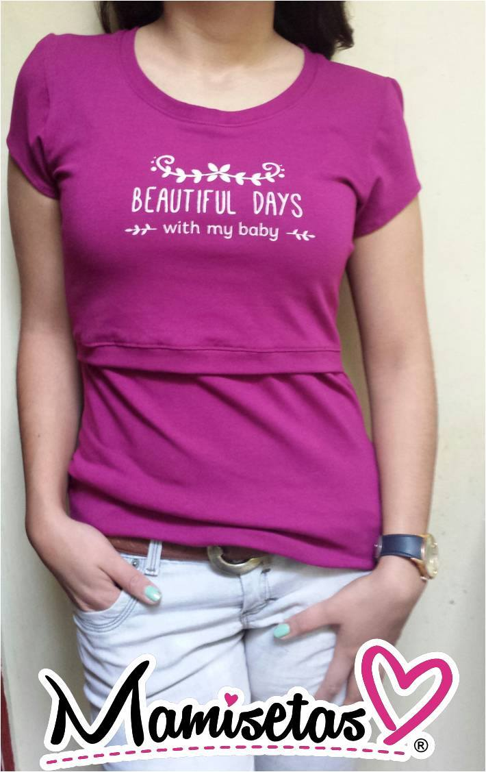 cd95b5b8c Blusa de Lactancia  Beautiful Days  Grosella - La tiendita de Conita