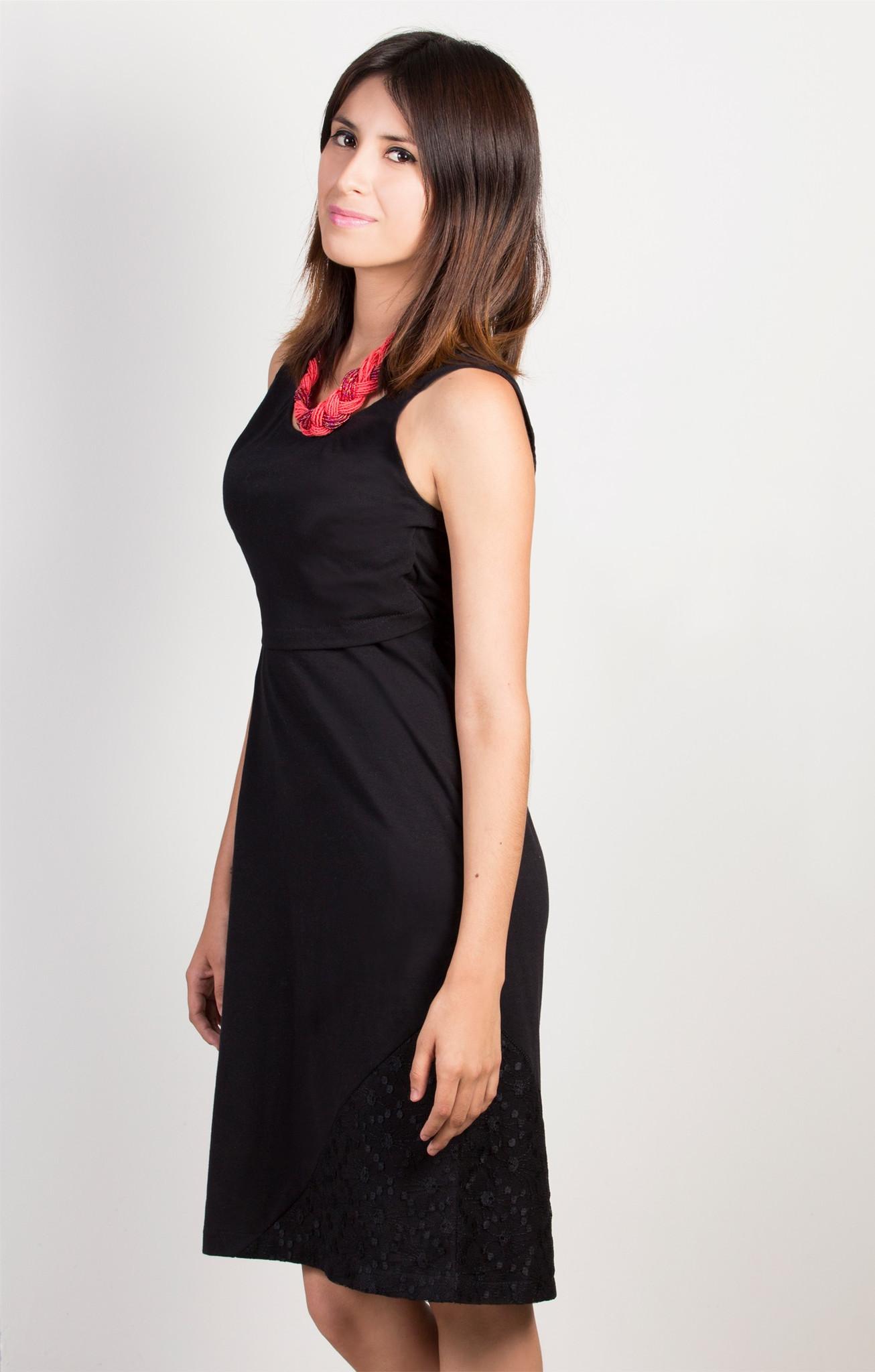 ef03f109d Vestido para lactancia sin mangas Negro - La tiendita de Conita