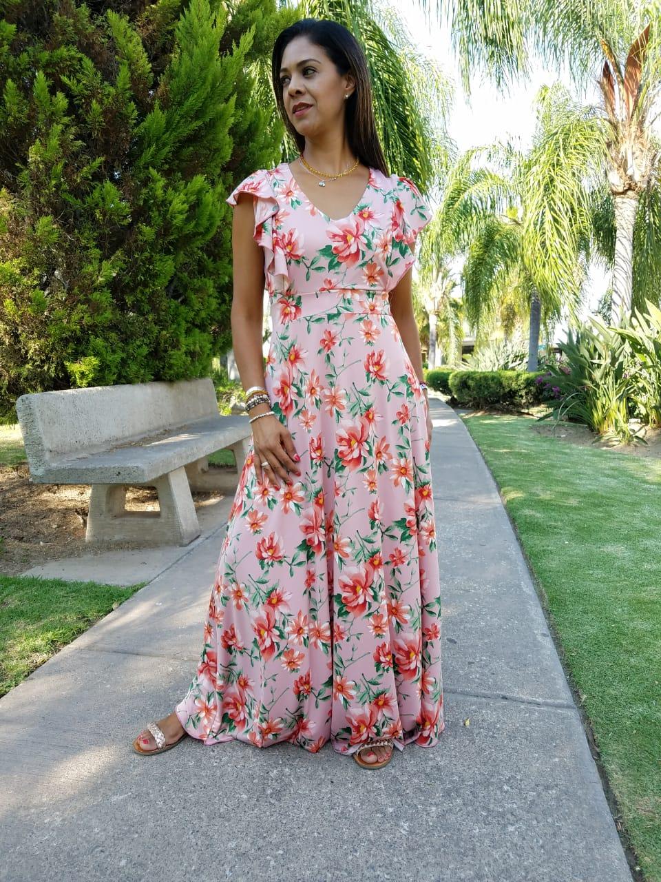 083a5af9a3 Maxi Vestido Flores - La tiendita de Conita