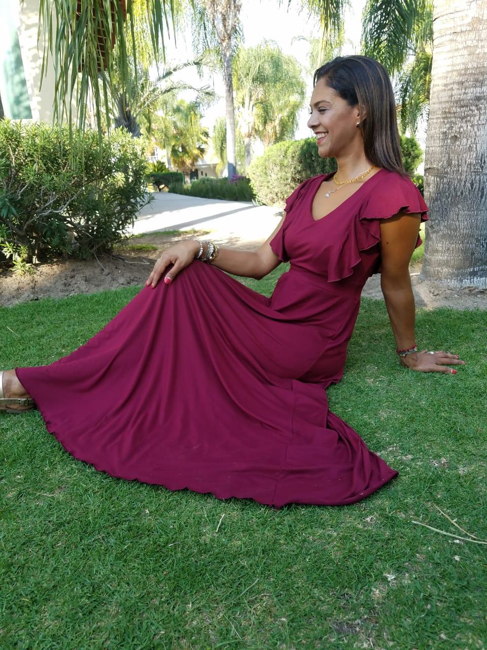 Maxi Vestido Vino - La tiendita de Conita