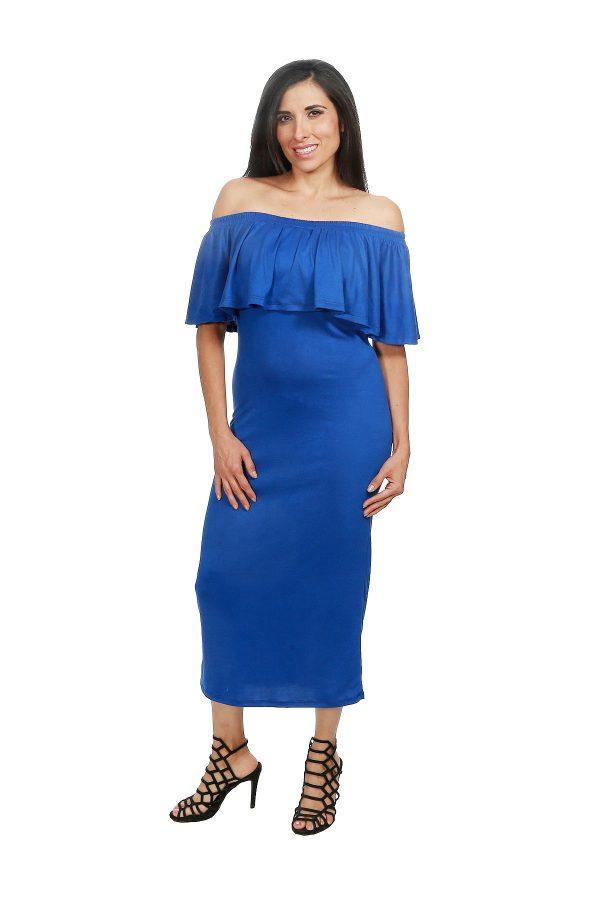 Imagenes de vestidos casuales azul rey