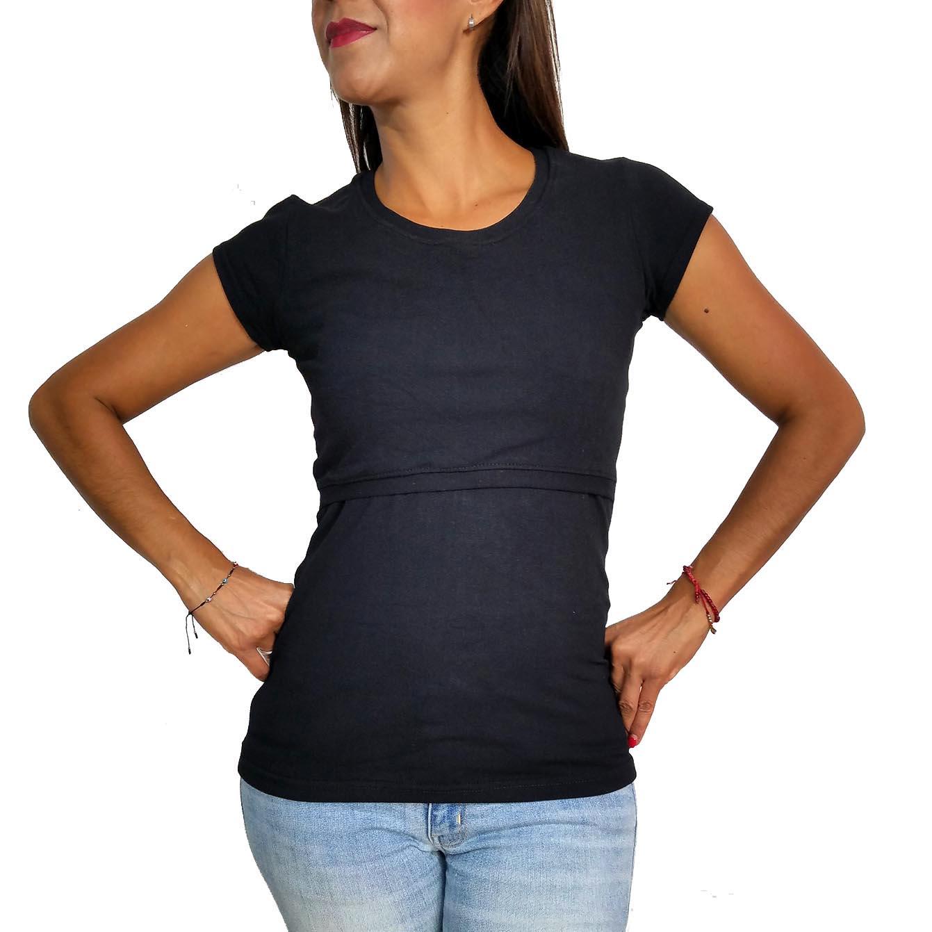 e9deb5078 Blusa de Lactancia Básica Negra - La tiendita de Conita